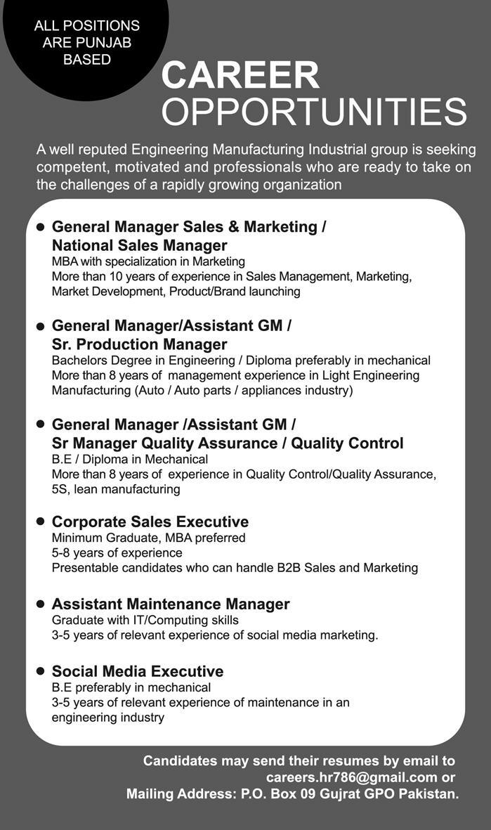 Assistant General Manager Engineering – Reikan