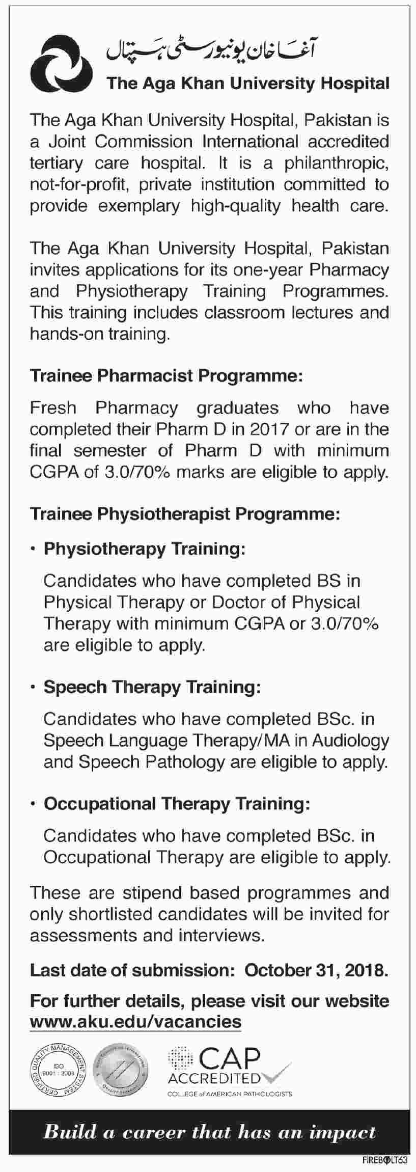 The Aga Khan University Hospital Job Opportunity - Jobs