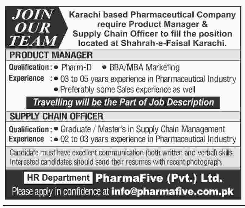 Karachi based Pharmaceutical Company OUR require Product